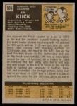 1971 Topps #186  Jim Kiick  Back Thumbnail