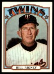 1972 Topps #389  Bill Rigney  Front Thumbnail