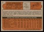 1972 Topps #7  Enzo Hernandez  Back Thumbnail
