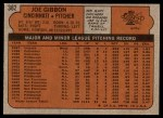 1972 Topps #382  Joe Gibbon  Back Thumbnail