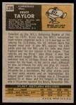 1971 Topps #239  Bruce Taylor  Back Thumbnail