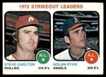 1973 Topps #67   -  Steve Carlton / Nolan Ryan Strikeout Leaders Front Thumbnail
