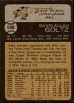 1973 Topps #148  Dave Goltz  Back Thumbnail