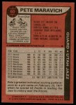 1979 Topps #60  Pete Maravich  Back Thumbnail