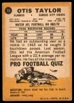 1967 Topps #73  Otis Taylor  Back Thumbnail