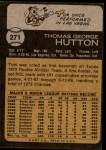 1973 Topps #271  Tom Hutton  Back Thumbnail