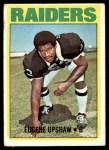 1972 Topps #186  Gene Upshaw  Front Thumbnail