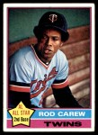 1976 Topps #400  Rod Carew  Front Thumbnail