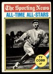 1976 Topps #346   -  Ty Cobb All-Time All-Stars Front Thumbnail