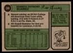 1974 Topps #39  Ken Suarez  Back Thumbnail