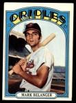 1972 Topps #456  Mark Belanger  Front Thumbnail