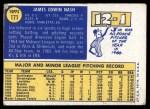 1970 Topps #171  Jim Nash  Back Thumbnail