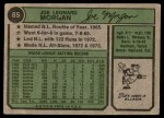 1974 Topps #85  Joe Morgan  Back Thumbnail