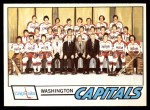 1977 O-Pee-Chee #88   Capitals Team Front Thumbnail