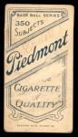1909 T206 NY Bill O'Hara  Back Thumbnail