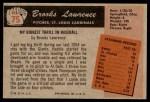 1955 Bowman #75  Brooks Lawrence  Back Thumbnail