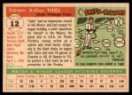 1955 Topps #12  Jake Thies  Back Thumbnail