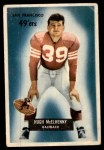 1955 Bowman #75  Hugh McElhenny  Front Thumbnail