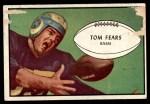 1953 Bowman #36  Tom Fears  Front Thumbnail