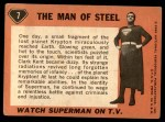 1966 Topps Superman #7   The Man of Steel Back Thumbnail