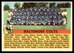 1956 Topps #48   Colts Team Front Thumbnail