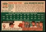 1954 Topps #114  Dean Stone  Back Thumbnail