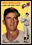 1954 Topps #42 WHT Don Mueller  Front Thumbnail