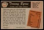1955 Bowman #300  Tommy Byrne  Back Thumbnail