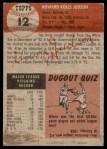 1953 Topps #12  Howie Judson  Back Thumbnail