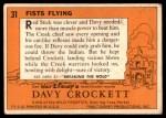 1956 Topps Davy Crockett #31   Fists Flying  Back Thumbnail