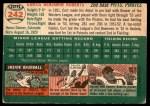 1954 Topps #242  Curt Roberts  Back Thumbnail