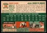 1954 Topps #98  Joe Black  Back Thumbnail