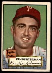 1952 Topps #362  Ken Heintzelman  Front Thumbnail