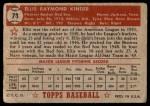 1952 Topps #78  Ellis Kinder  Back Thumbnail