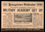 1954 Topps Scoop #121   West Point Trains Cadets Back Thumbnail