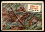 1954 Topps Scoop #77   Hurricane In Florida  Front Thumbnail