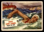 1954 Topps Scoop #72   Ederle Swims Channel  Front Thumbnail