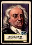 1952 Topps Look 'N See #68  Isaac Newton  Front Thumbnail
