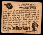 1950 Topps Bring Em Back Alive #37   Call For Help Back Thumbnail