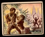 1950 Topps Bring Em Back Alive #37   Call For Help Front Thumbnail