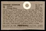 1952 Bowman Small #19  George Connor  Back Thumbnail