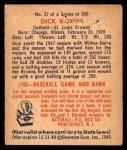 1949 Bowman #31  Dick Kokos  Back Thumbnail