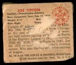 1950 Bowman #159  Joe Tipton  Back Thumbnail