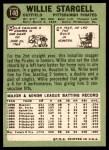 1967 Topps #140  Willie Stargell  Back Thumbnail