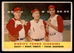 1958 Topps #386   -  Frank Robinson / Ed Bailey / Birdie Tebbets Birdie's Young Sluggers   Front Thumbnail