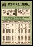 1967 Topps #5  Whitey Ford  Back Thumbnail
