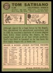 1967 Topps #343  Tom Satriano  Back Thumbnail