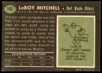 1969 Topps #183  Leroy Mitchell  Back Thumbnail