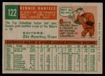 1959 Topps #122  Bennie Daniels  Back Thumbnail