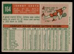 1959 Topps #164  Johnny Groth  Back Thumbnail